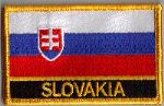 Slovakia Embroidered Flag Patch, style 09.
